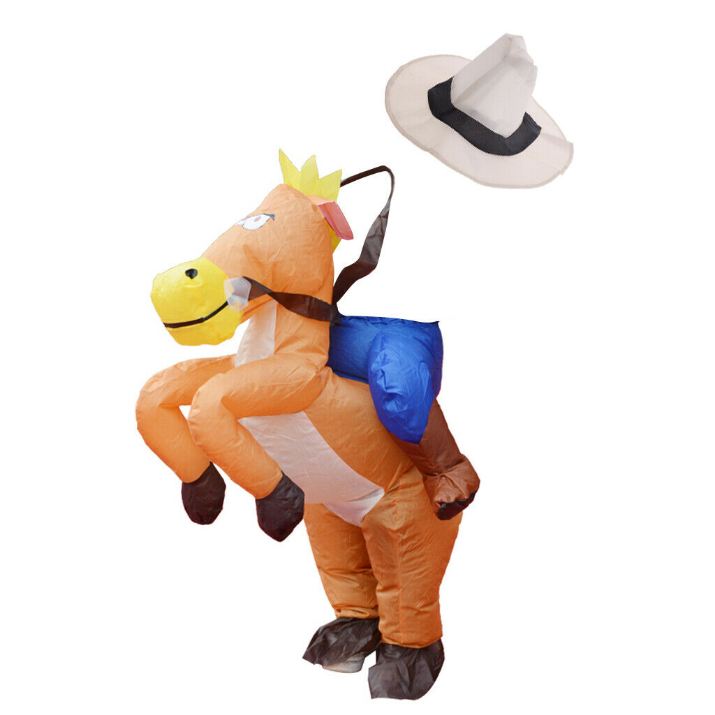 Inflatable Horse Costume Cosplay Halloween Stage Performer Fancy Dress Kids For Sale Online