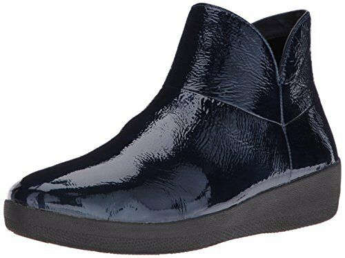 96616f97b567 Women s FitFlop Supermod Ankle Boot 7.5 M Inky Blue Soft Patent Leather