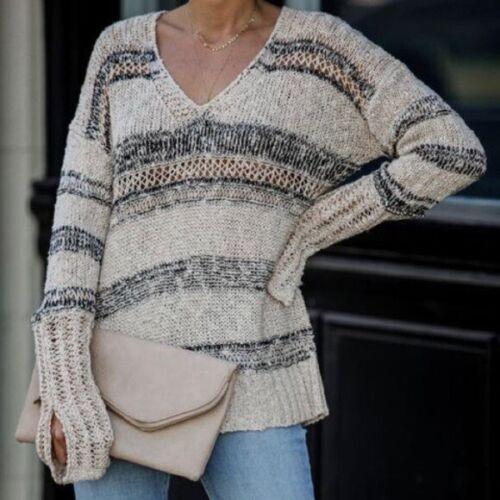 Preowned Storia Maverick Striped Knit Sweater, Siz