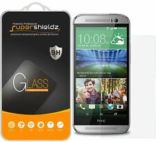 3X Supershieldz HTC One M8 Tempered Glass Screen Protector Saver