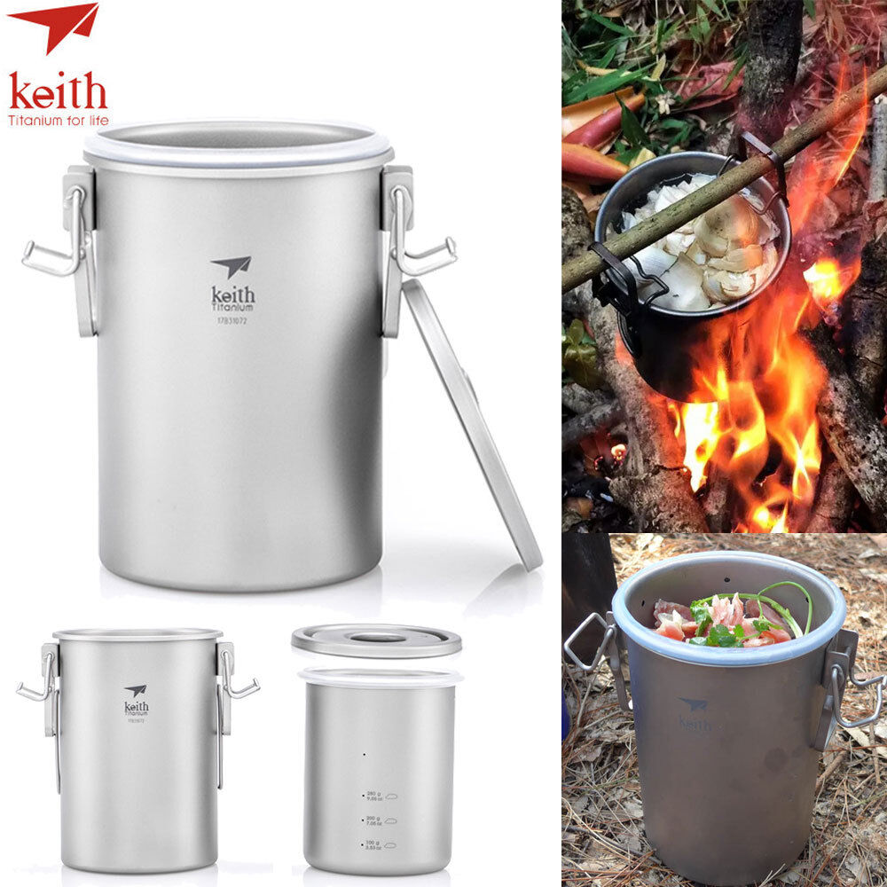 Keith titanium Camping Mini Cocina Al Aire Libre Portátil Picnic Arroz Olla de utensilios de cocina NUEVO