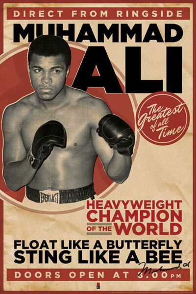 Muhammad Ali Vs Sonny Liston boxing fight sport poster