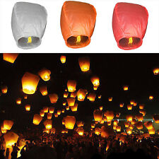 POP 1Pcs Chinese Paper Lanterns Sky Fire Fly Candle Lamp for Wish Wedding