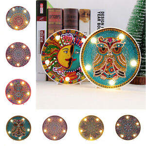 Mandala-5D-Diamond-Painting-LED-Light-Full-Drill-Rhinestones-Cross-Stitch-Lamp