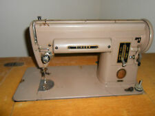 Vintage 1952 Heavy Duty Singer 301 Sewing Machine with Cabinet & Bench
