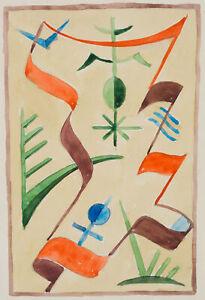 Rudolf-SCHMID-1896-1971-Entwurf-mit-christlichen-Symbolen-Aquarell-um-1960