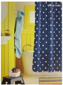 Image Is Loading Circo Navy Stars Shower Curtain New