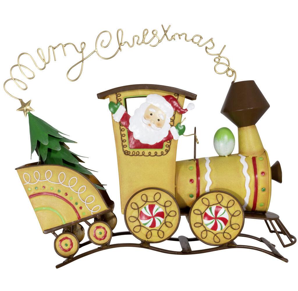 Weihnachtliche Deko Lokomotive 40cm Zug Weihnachtszug Merry Christmas