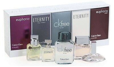 Eternity Euphoria CK FREE Calvin Klein Mens COLOGNE Women's PERFUME MINI SET NEW