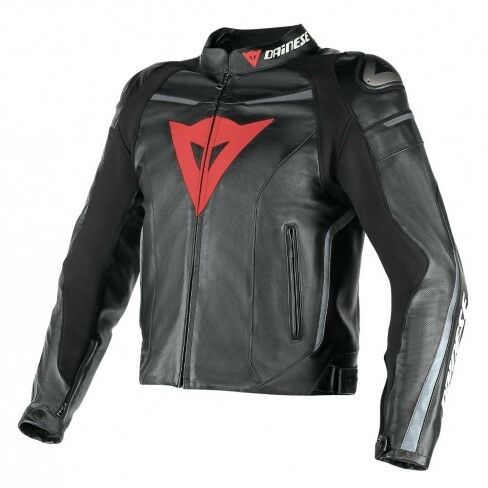 Dainese Superfast Leather Jacket - Blk/Gun/Orange - Size 40 (Euro 50) - £299.99