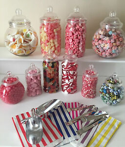 Plastic Victorian Style Sweet Jars For Diy Candy Buffet Wedding Party Large Kit Ebay