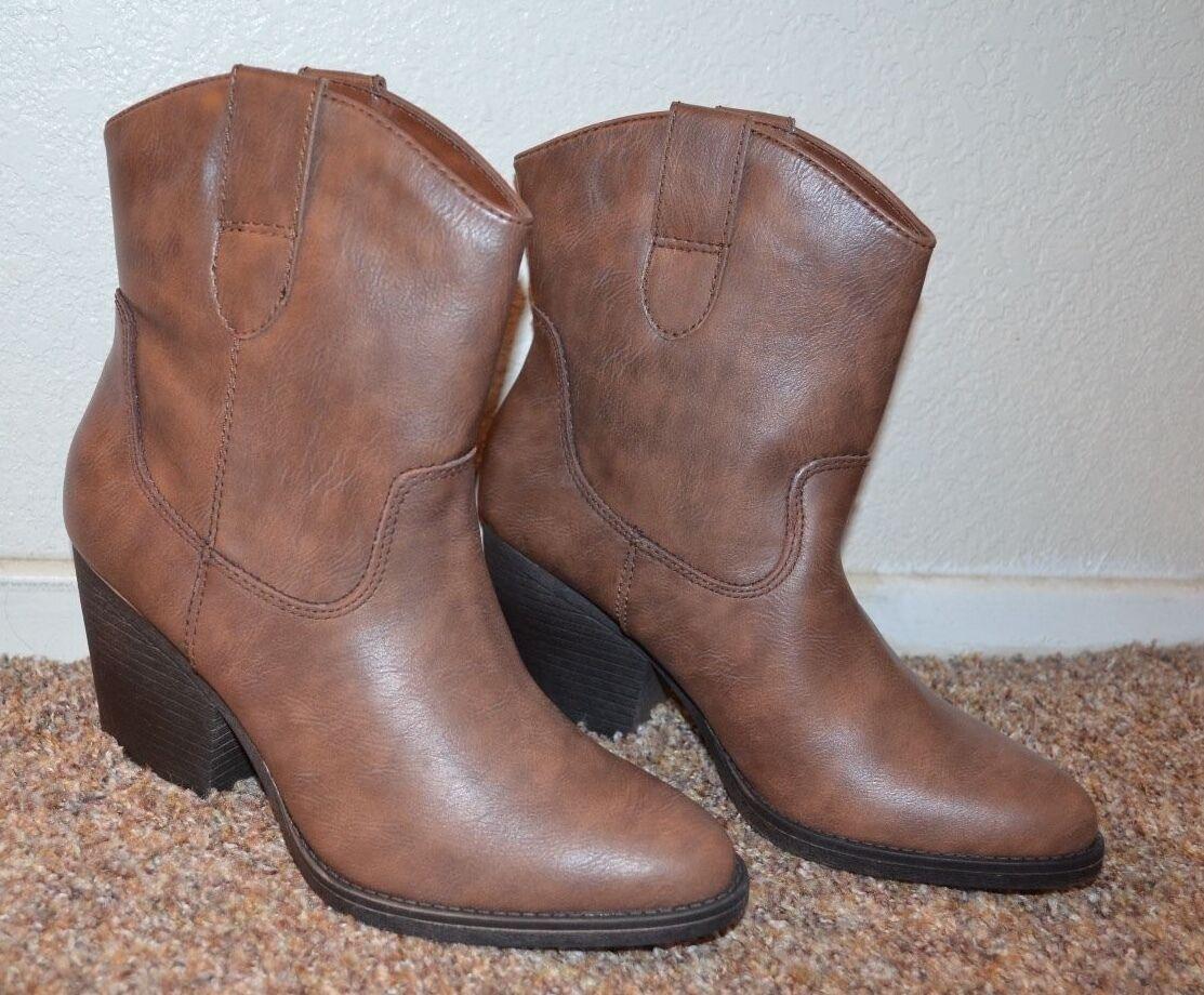NEW  Madden girl femmes marron Western bottes   Taille  7   7.5 M  3  Heel VERY CUTE