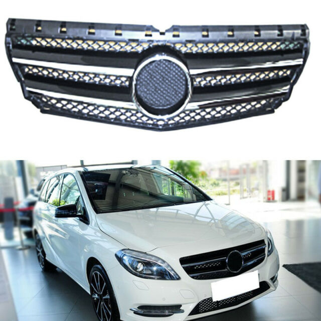 Chrome Auto Front Grill Grille Mesh For Mercedes-Benz B