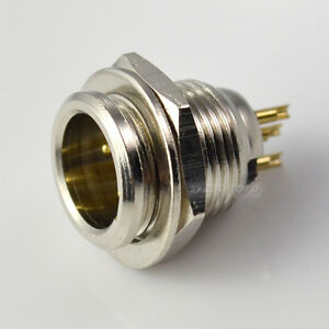 4-pin-Male-Mini-XLR-Audio-Microphone-Chassis-Mount-match-Nickel-plated-Connector