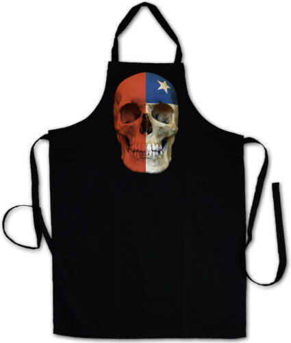 CLASSIC CHILE SKULL FLAG COOKING APRON Schädel Banner