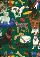 Dog Gift Wrapping Paper -large 26x30' Roll