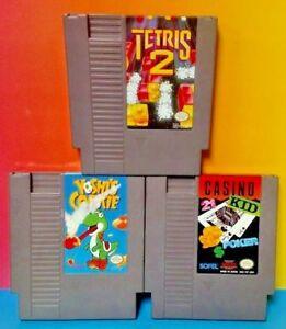Tetris-2-Casino-Kid-Yoshi-039-s-Cookie-Yoshi-Nintendo-NES-Games-Tested-Authentic