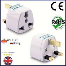 3 Pin Plug Adaptador de Viaje Universal EE. UU. * La UE * China * Asia * Australia a Reino Unido G PH007