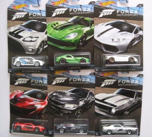 1 Set FORZA Motorsport X-Box Ford Focus BMW McLaren AMC AMX** Hot Wheels 1:64