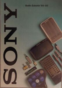 Zeitschrift-Prospekt-SONY-Audio-Zubehoer-1989-90