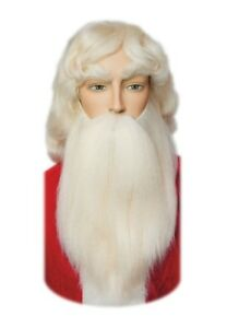 ab25ce61ff4 Image is loading Santa-Claus-Beard-Wig-Mustache-Set-004YH-White-