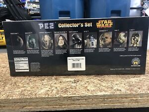 Brand-new-sealed-Star-Wars-9-character-Pez-Collector-039-s-Set-Limited-Edition-2005