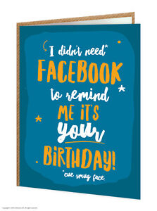 Image Is Loading Brainbox Candy Funny Humorous 039 Facebook Birthday