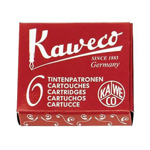 1x Kaweco 6 CARTUCHOS Tinta BURDEOS ROJO Estilográfica KA CART04 7015Bburdeosroj