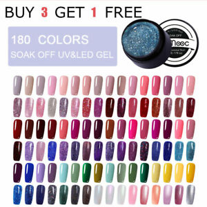 180-Choose-LEMOOC-UV-Gel-Polish-Nail-Tips-Design-Glitter-Gel-Varnish-UV-Lamp