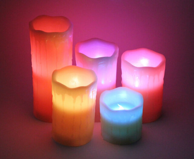Elambia Kerzen.Elambia 5 Flammenlose Kerzen Timerfunktion Fernbedienung 12 Flammenfarben Natur