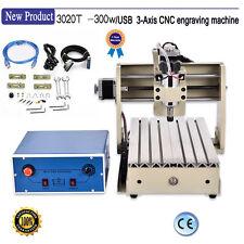 USB port ! 300W spindle 3020 Cnc Router Kit engraver engraving milling machine
