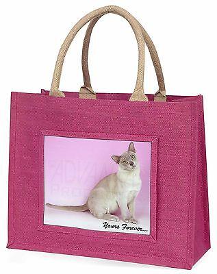 Burmesische Cat dir für immer Große Rosa Einkaufstasche Weihnachtsgeschenk,