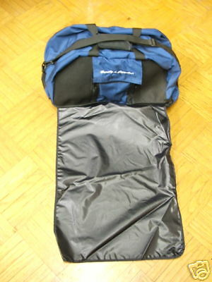 Deluxe Wader Bag w Roll Out Matt  Navy blu  New