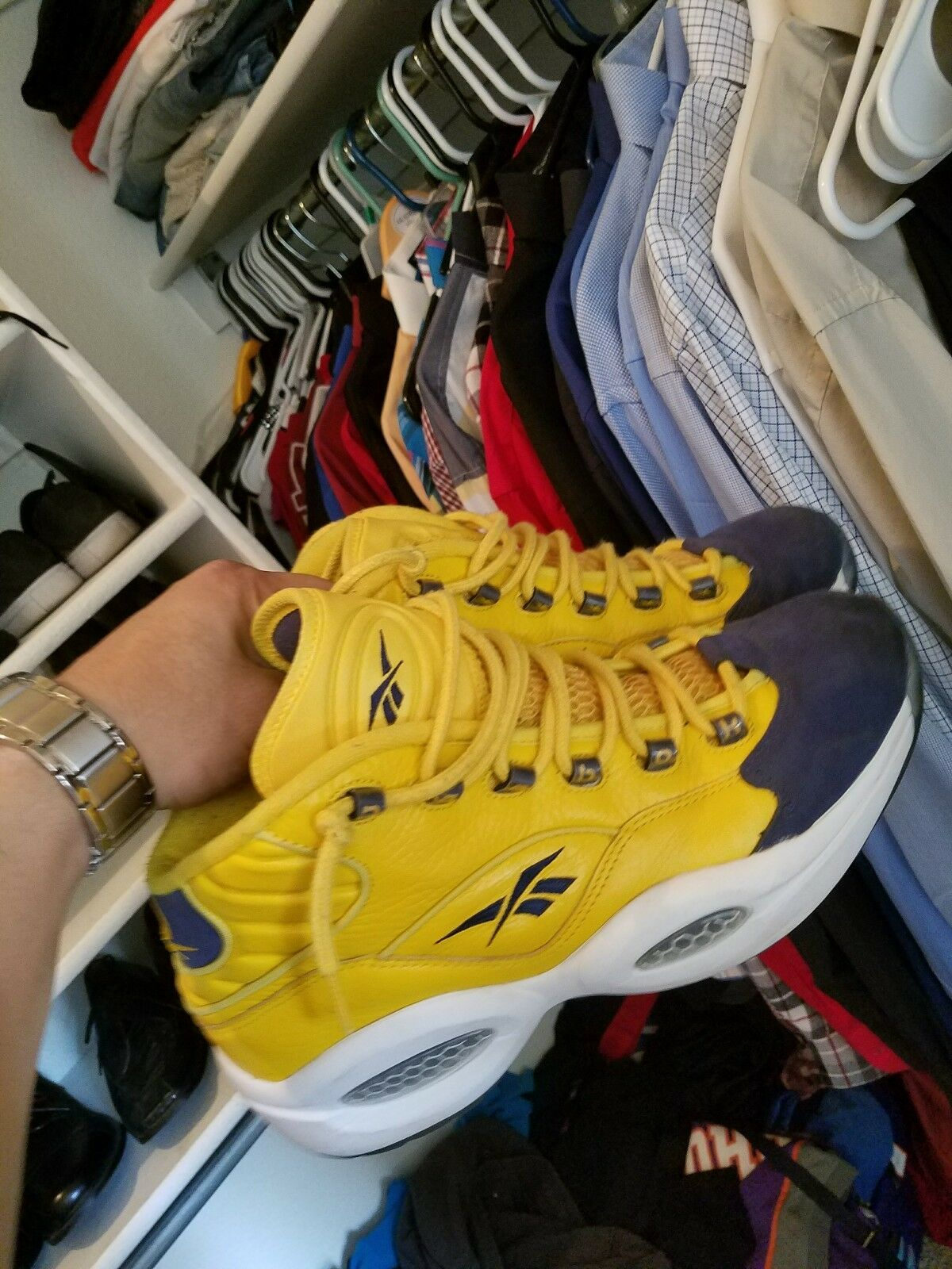 Iverson Questions all star yellow size 10