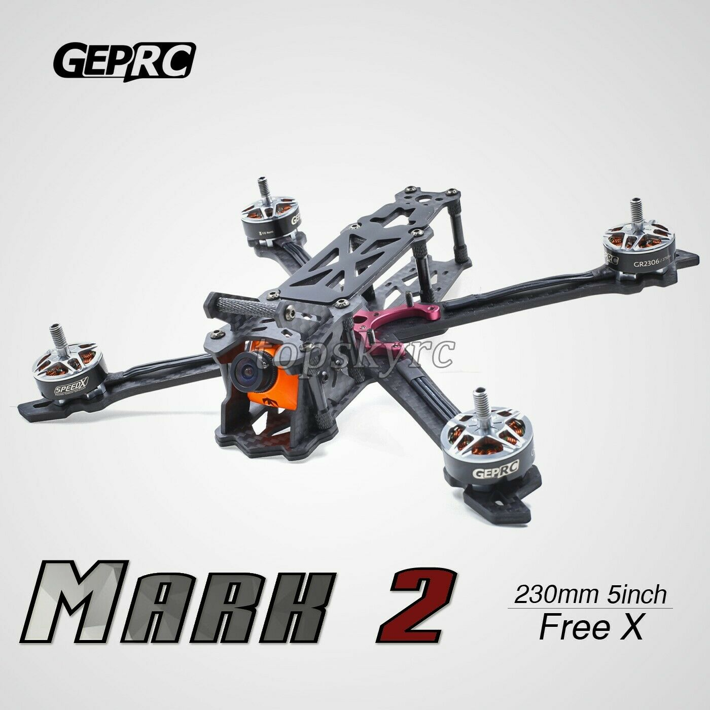 200mm vista en primera persona Racing Drone frame RC Drone frame inacabado Cuadricóptero GEP-Mark 2 TPS