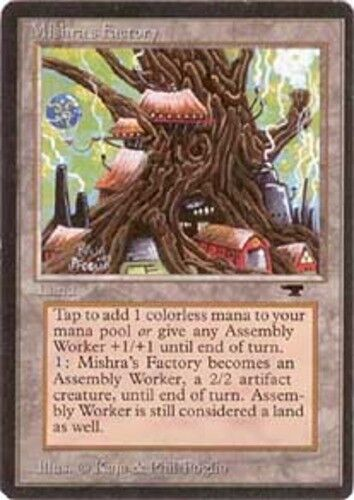 Heavy Play 1x Mishra/'s Factory Spring English Antiquities MTG Magic