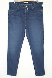 Madewell-Women-039-s-10-034-High-Rise-Skinny-Stretch-Size-34-Hayes-Wash-F4684