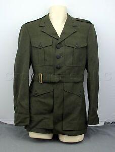 USMC United States Marine Corps Officer Green Military Dress Coat ...