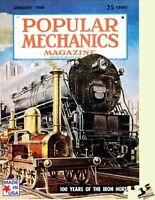 Jigsaw Puzzle Popular Mechanics Cover The Iron Horse 500 Piece Made In Usa