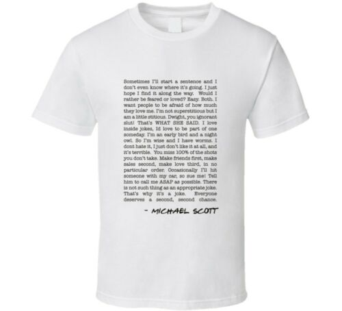 The Office Michael Scott Top Quotes Collage Tv Show T-shirt