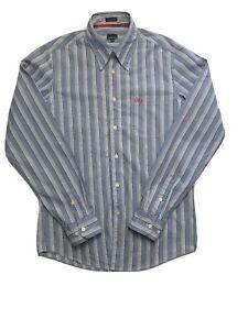 Calvin Klein Jeans Men's Long Sleeve Blue Strip Shirt Size M
