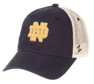 NOTRE-DAME-FIGHTING-IRISH-NCAA-SLOUCH-TRUCKER-UNSTRUCTURED-SNAPBACK-CAP-HAT-NWT