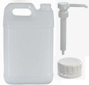 Plastic Jerry Can Water Bottle Container with Tamper Cap or Pump - 5L Litre 5L