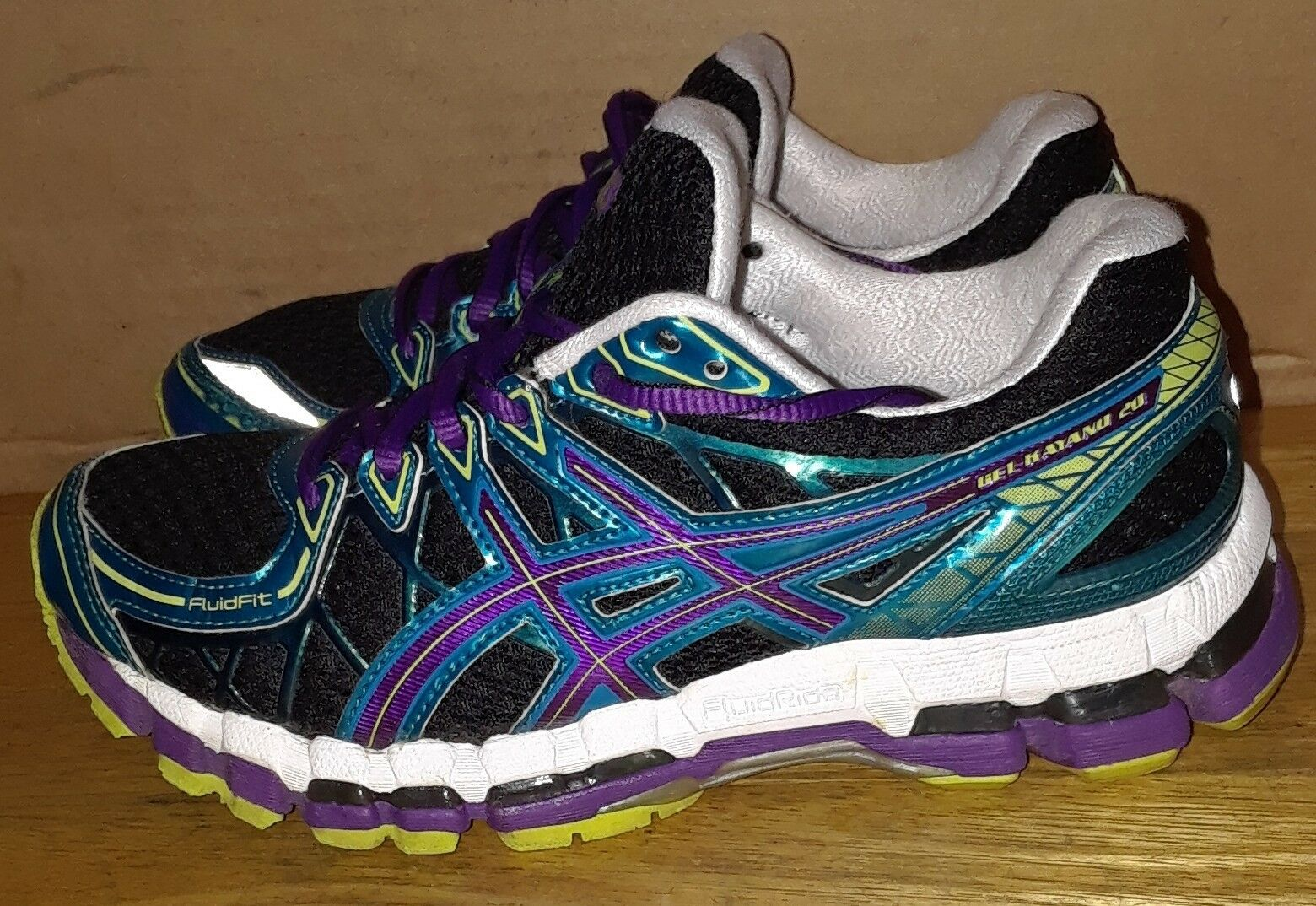 Asics Gel Kayano 20 - Running Training Women's shoes bluee Black. Sz 6