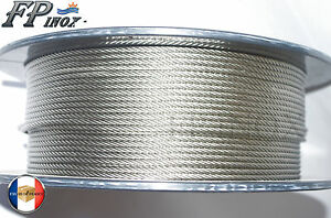 Câble 5mm inox 316 Souple 7x19 VENDU AU METRE inox 316 - A4