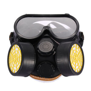 Industrial-Gas-Chemical-Anti-Dust-Paint-Full-Face-Respirator-Mask-Goggles-Set