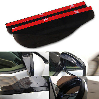 2pcs Universal Car Rear View Side Mirror Rain Board Black Sun Visor Shade Shield