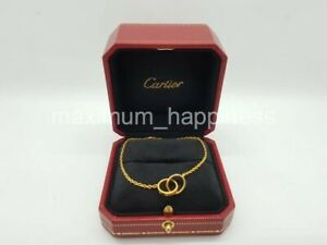 CARTIER-18K-YELLOW-GOLD-BABY-LOVE-BRACELET-IN-CHAIN-AUTHENTIC