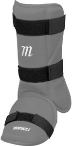 Marucci MPLG Batters Leg Guard Batters Ankle Guard Baseball Softball Gray
