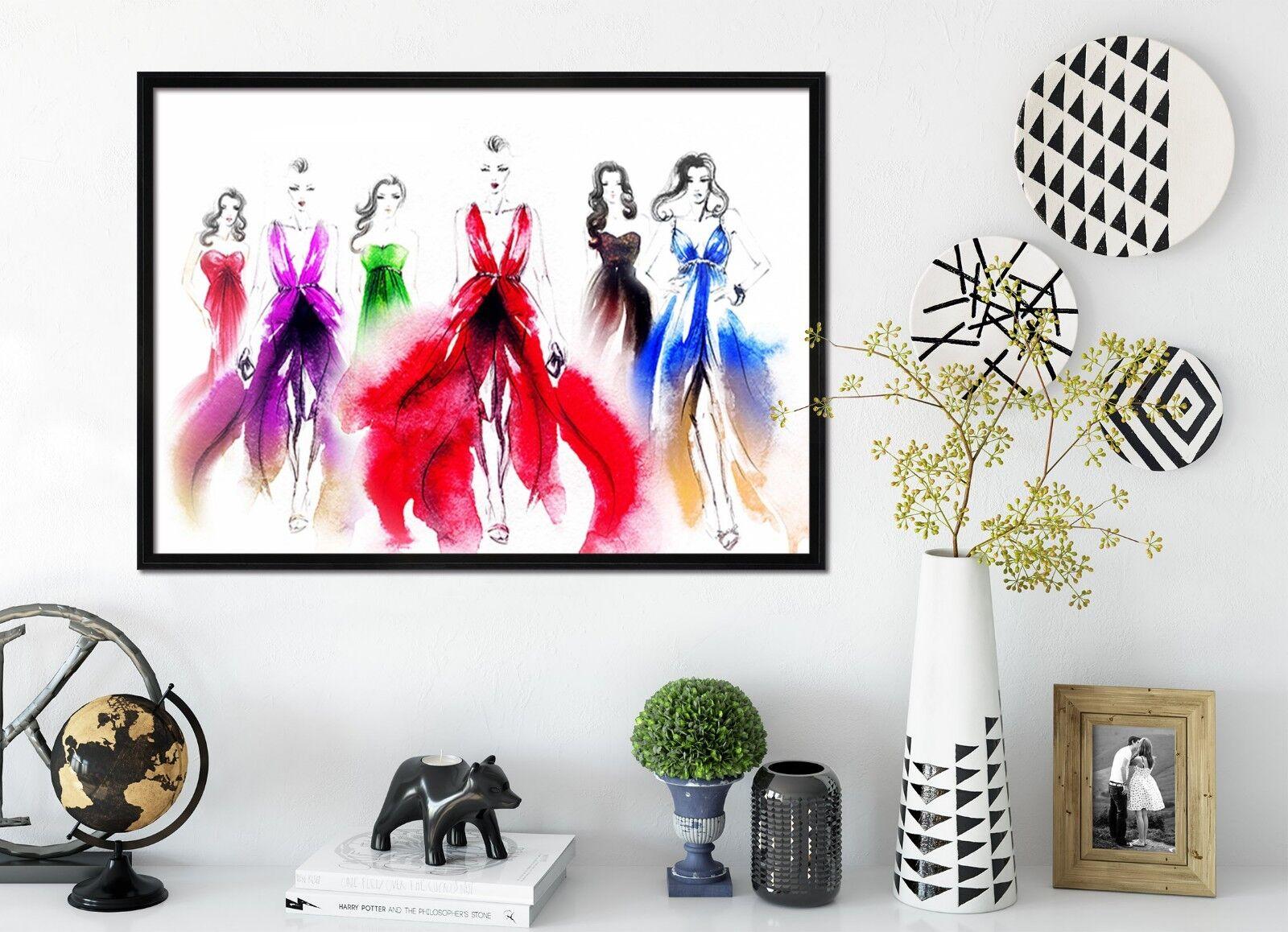 3D Painting Dress 51 Framed Poster Home Decor Drucken Painting Kunst AJ WandPapier
